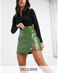 Fila Mini-jupe effet croco - Vert
