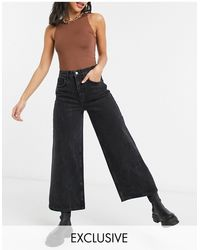 Reclaimed (vintage) The '93 Wide Leg Jeans - Black