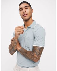 Abercrombie & Fitch Johnny Colour Pique Polo - Grey