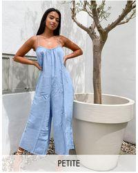 New Look Tuta jumpsuit blu medio con fondo ampio