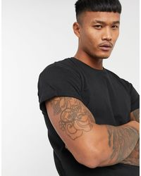 Pull&Bear Join Life Muscle Fit T-shirt - Black