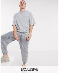 Collusion Oversized T-shirt - Grey