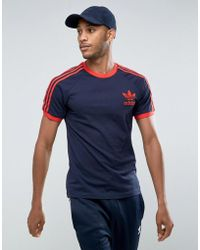 adidas Originals California T-shirt In Blue Bq1878