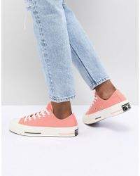 Converse - Chuck Taylor All Star '70 Low Trainers In Pink - Lyst