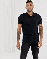 ASOS - Organic Polo With Revere Collar - Lyst