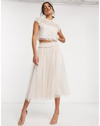 Needle & Thread Embellished Crop Top - Multicolour
