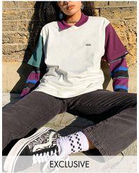 Vans Opposite - T-shirt color block - multicolore - Exclusivité ASOS - Blanc