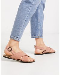 Glamorous Cross Strap Flat Sandal - Multicolour
