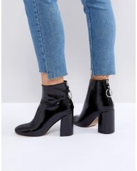 Steve Madden - Posed Black Heeled Ankle Boots - Lyst