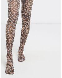 ASOS Collants à imprimé léopard - Multicolore