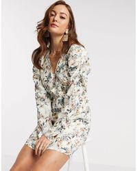 Y.A.S Платье Мини С Цветочным Принтом И V-образным Вырезом -мульти - Многоцветный