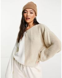 In The Style Jersey color con escote bardot de - Multicolor