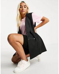 ASOS Jersey Oversized Sleeveless Blazer - Black