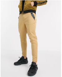 SIKSILK Tapered Chino Trousers - Multicolour