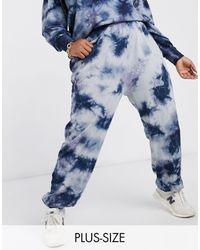 Noisy May Joggers azules efecto tie dye exclusivo