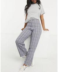 ASOS Zip Front Flare Trouser - Brown