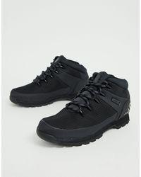 Timberland - Черные Походные Ботинки Со Светоотражающей Отделкой Euro Sprint-черный - Lyst