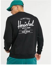 Herschel Supply Co. Sudadera con cuello redondo y estampado en el pecho - Negro