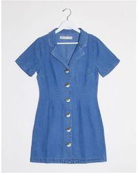ASOS Vestido camisero - Azul