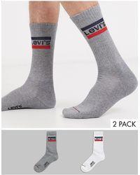 Levi's Retro Logo Socks 2 Pack - White