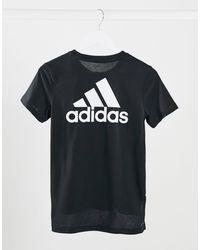 adidas Originals - Adidas - T-shirt da allenamento nera - Lyst