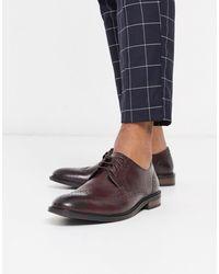 Moss Bros Moss London - Chaussures derby style richelieu - Bordeaux - Multicolore