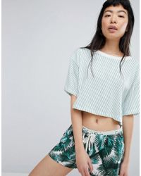 Calvin Klein - Cotton Coord Top S/s Crew Neck - Lyst