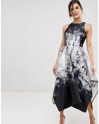 Coast - Mahonia Graphic Print Volume Dress - Lyst