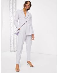 ASOS Tapered Suit Pants-purple