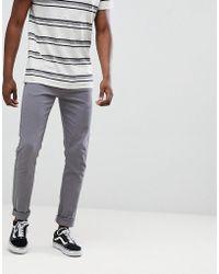 Farah Drake Super Slim Fit Twill Jeans In Grey