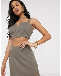Missguided Co-ord Bralet - Gray