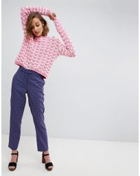 Paul & Joe - Sister Checked Tailored Trousers - Lyst