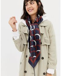 ASOS - Large Polysatin Headscarf In Scallop Print - Lyst
