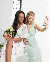 Warehouse - Розовое Атласное Платье Макси На Пуговицах С Цветочным Принтом Bridesmaids-розовый - Lyst