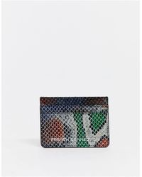 French Connection Leather Card Holder - Gray