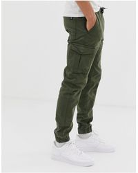 Tom Tailor Cargo Trousers - Green