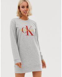 Calvin Klein Ночная Рубашка -серый