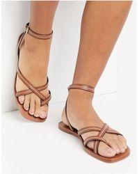 ALDO - Sandales à brides - Fauve - Lyst