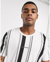 Pull&Bear T-shirt With Vertical Stripe - Grey