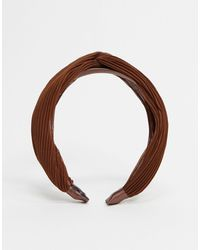 ASOS Knot Headband - Brown
