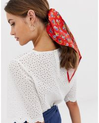 ASOS Red Ditsy Floral Headscarf
