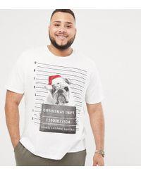 Jack & Jones - Originals Plus Size Christmas T-shirt With Bulldog Graphic - Lyst