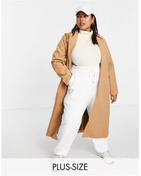 Simply Be Single Breasted Formal Coat - Natural