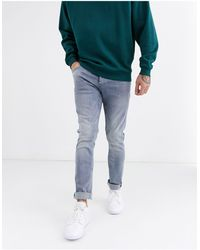 Only & Sons Jeans slim lavaggio blu grigio