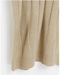 Reclaimed (vintage) - Светло-бежевый Трикотажный Топ Облегающего Кроя С Короткими Рукавами Inspired-белый - Lyst