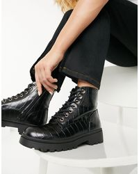 New Look - Chunky Lace Up Ankle Boots - Lyst