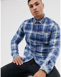 Jack & Jones Originals - Geruit Overhemd Met Lange Mouwen - Blauw