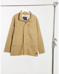 Levi's Пальто На Искусственном Меху -коричневый
