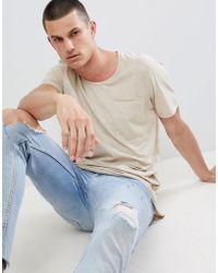 Jack & Jones - Originals Longline T-shirt With Drop Panel And Pocket - Lyst