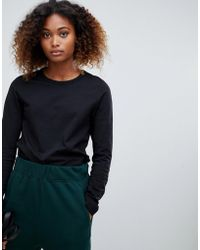 Weekday - Plain Long Sleeve T-shirt In Black - Lyst